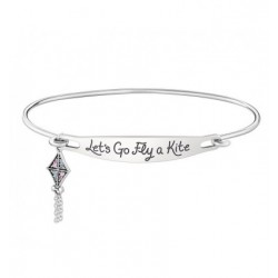 "Mary Poppins bracciale con zirconi scritta ""Let's go fly a kite"" - Disney"
