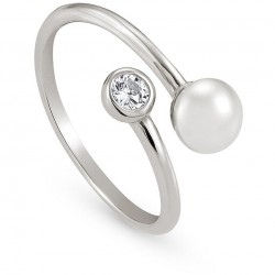 Anello aperto Bella Moonlight con perla