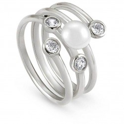 Anello doppio Bella Moonlight con perla